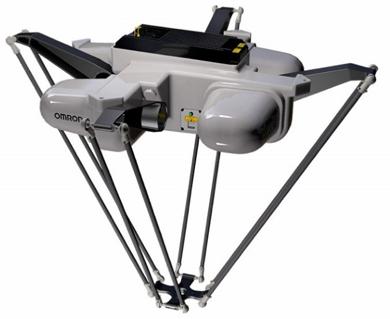 Slika Paralelni roboti v stropni (inverzni) izvedbi - OMRON serije iX3 in iX4